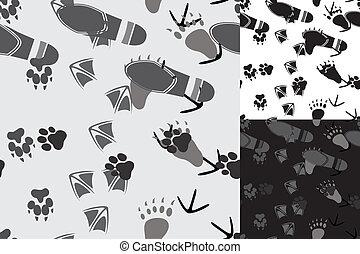 Animal and human traces seamless