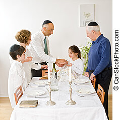 Kidush - friday evening Jewish family celebration
