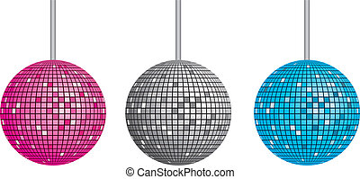 Isolated disco ball set