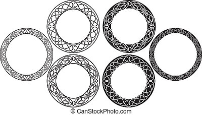 celtic stencil set round ornaments