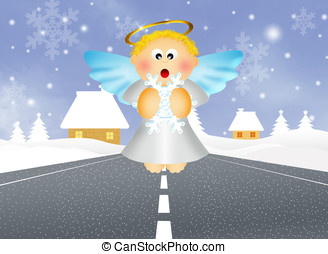 guardian angel - illustration of guardian angel