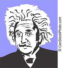 Albert Einstein, famous scientist and author of the theory...