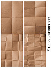 folded packing paper - collection of various folded packing...