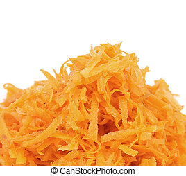 Heap of grated carrots