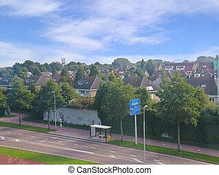 View of the Dutch city Dordrecht. Netherlands