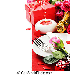 St Valentines menu concept isolated over white
