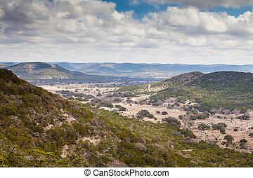 Texan Landscape - A valley view near Vanderpool and Medina...