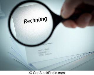 Invoice - Cover letter with the word Rechnung in the...