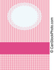 Baby shower invitation, with newborn baby girl, EPS10 -...