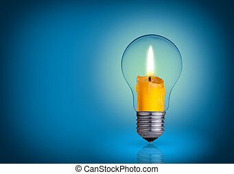new idea - candle into lighting bulb