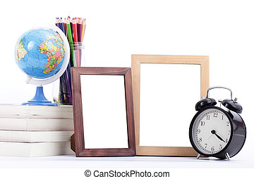 stationery  and frame picture