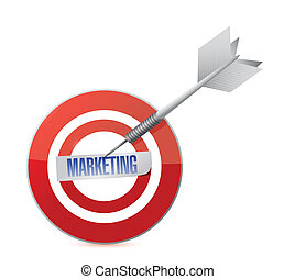 marketing target and dart illustration design over a white...