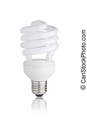 Eco light bulb - Energy saving light bulb isolated on white...