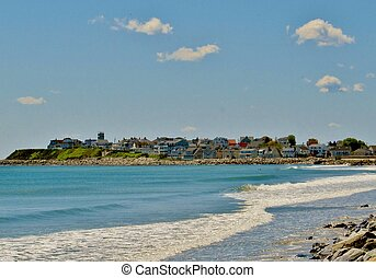 View from 2nd street - atlantic ocean looking south with...