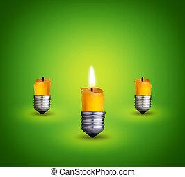 candles into light bulbs - candles into lighting bulbs on...
