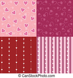 Set of Valentine Seamless Pattern