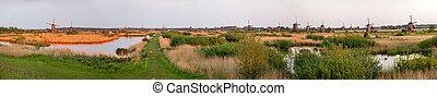 Panorama of Kinderdijk