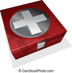 First aid kit box - Vector illustration of First aid kit box...