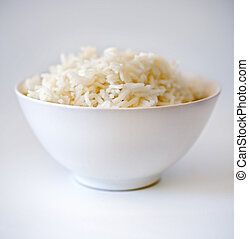 rice bowl 3 - rice bowl in shallow depth of field on white
