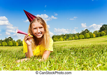 Teen girl ready for birthday party