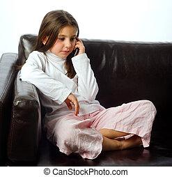 young girl and cell phone