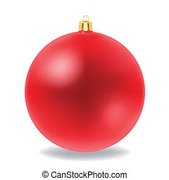 Christmas ball  - Vector of red Christmas ball