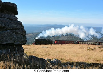 Railway on the Brocken - Railway on the summit of the...