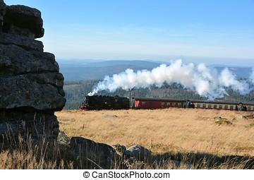 Railway on the Brocken - Railway on the summit of the...