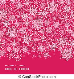 Snowflake Texture Horizontal Border Seamless Pattern...