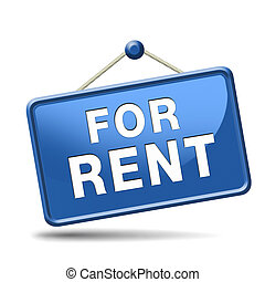 for rent sign - For rent sign, renting a house apartment or...