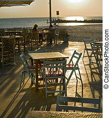restaurent beach sunset