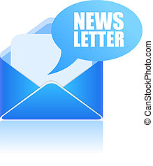 Newsletter icon - Newsletter vector icon