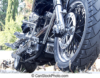 Motorbike - extremely interested motorbike - side view from...