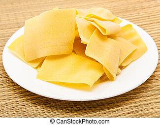 macarrones, productos, -, base, lasaña
