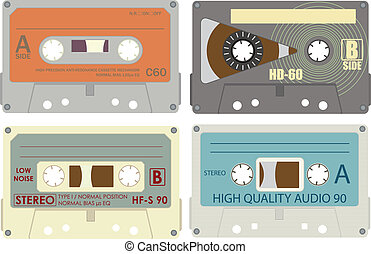 Compact cassette vector pack