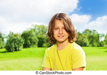 12 years old boy portrait - Nice handsome 12 years old boy...