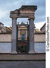 Colums at Roman amphitheater,Catania