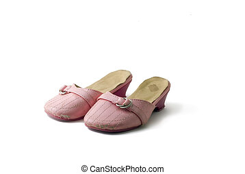worn out shoes - worn out pink girls shoes