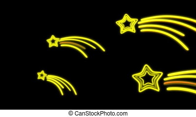 nero star tail - The graphic of nero light for celebration...