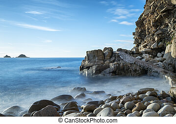 Porth Nanven Cove - The beach and cliffs of Porth Nanven...