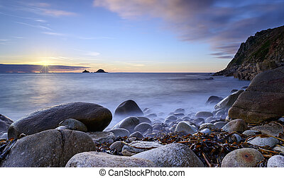 Porth Nanven Cove - Porth Nanven cove also known as Cot...
