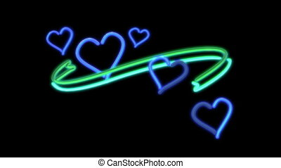 nero heart color blue - The graphic of nero light for...
