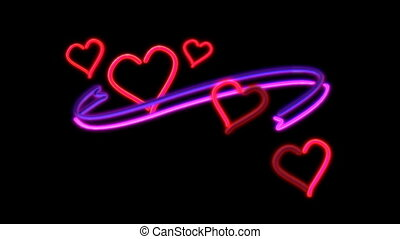 nero heart - The graphic of nero light for celebration and...