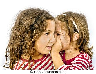 secret - two girls telling a secret