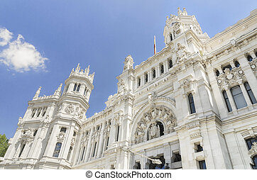 Central Post office building, Palacio de Comunicaciones,...