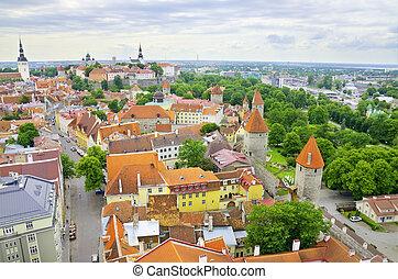 Tallinn aerial view, Estonia.