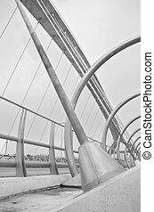 ZARAGOZA ,SPAIN-16 MAY : detail of bridge of the third...