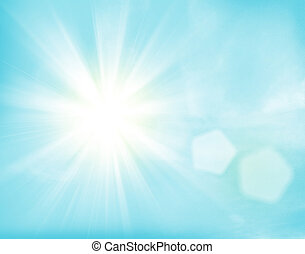 Sunlight and blue sky background