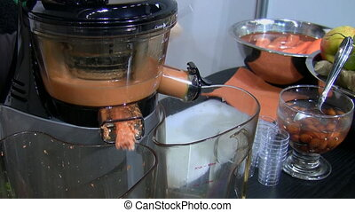 Juice making - Modern working electrical blender making...