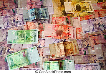 Ugandan Banknotes - The animal and nature themed banknotes...